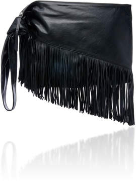 Isabel Marant Farwo Fringe-Trimmed Leather Pouch