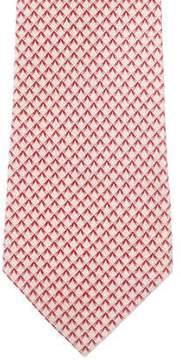 Bvlgari Geometric Print Silk Tie