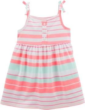 Carter's Baby Girls Stripe Tie Shoulder Dress