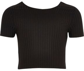 River Island Girls black scoop neck crop top