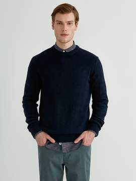Frank and Oak The Airy Crewneck Sweater in Dark Sapphire