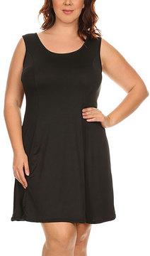 Canari Black Sleeveless Dress - Plus