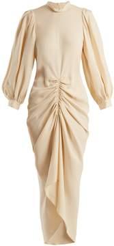Joseph Fay ruched silk-crepe dress