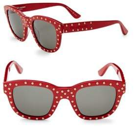 Saint Laurent 48MM Studded Wayfarer Sunglasses