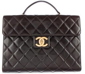 Chanel Quilted Lambskin Briefcase