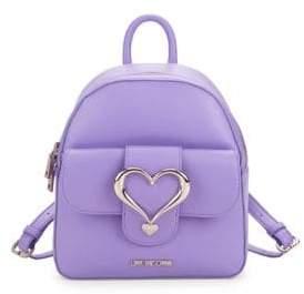 Love Moschino Heart Top Zip Backpack