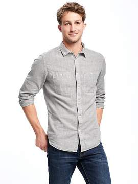 Old Navy Slim-Fit Linen-Blend Chambray Shirt For Men