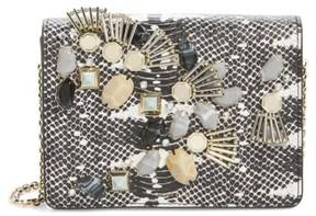 Louise Et Cie Sonye Embellished Leather Shoulder Bag - Black