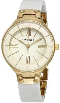 Anne Klein White Dial Ivory Resin Bangle Ladies Watch