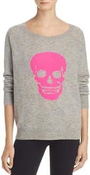Aqua Cashmere Skull Donegal Sweater - 100% Exclusive