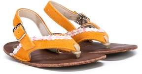 Pépé floral detail sandals