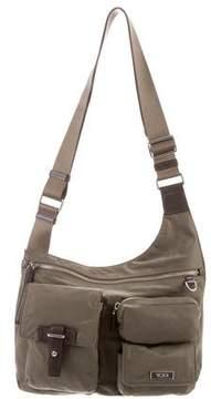 Tumi Leather-Trimmed Nylon Messenger Bag