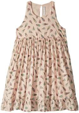 Stella McCartney Pip Sleeveless All Over Ice Cream Print Dress Girl's Dress
