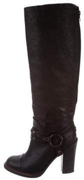 Vera Wang Studded Knee-High Boots