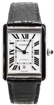 Cartier Tank Solo 3515 Stainless Steel With Silver Dial 33mm Mens Watch