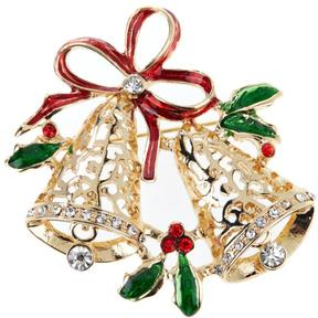 RJ Graziano Get Gifty Crystal-Accented and Enamel Brooch