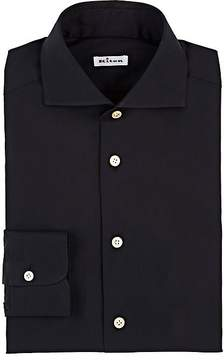 Kiton Men's Cotton-Blend Poplin Dress Shirt