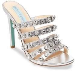 Betsey Johnson Jovi Embellished Strappy Sandals