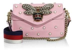 Gucci Broadway Pearly Embellished Leather Clutch - SLIPPER PINK - STYLE