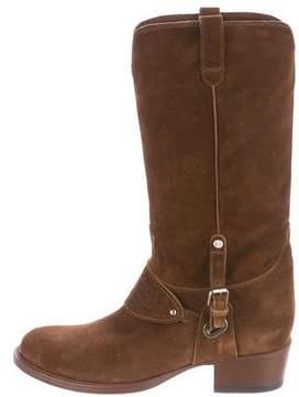 Ralph Lauren Suede Mid-Calf Boots