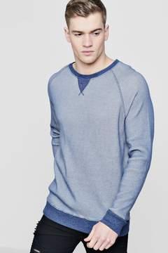 boohoo Waffle Knit Raglan Sweater