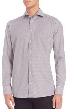Eton Contemporary-Fit Mini Fox-Print Button-Down Shirt
