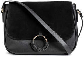H&M Shoulder bag with suede detail - Black