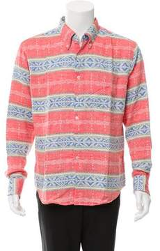 Naked & Famous Denim Woven Abstract Button-Up