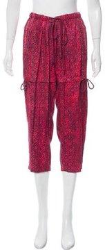 Edun Mid-Rise Printed Silk Pants
