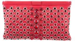Miu Miu Leather Embellished Clutch