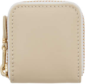 Comme des Garcons Wallets Off-White Small Leather Zip Around Pouch