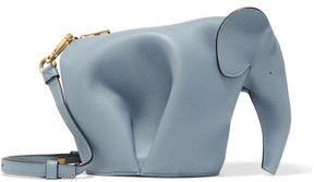 Loewe - Elephant Leather Shoulder Bag - Blue