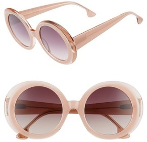 Alice + Olivia Women's Mulholland 52Mm Round Gradient Sunglasses - Blush
