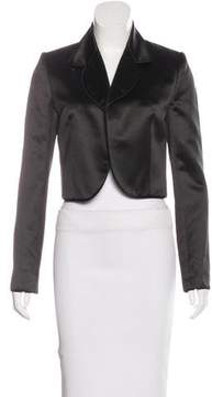 Christian Dior Cropped Satin Blazer