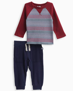 Splendid Baby Boy Print Stripe Raglan Set