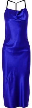 Fleur Du Mal Silk-Satin Midi Dress