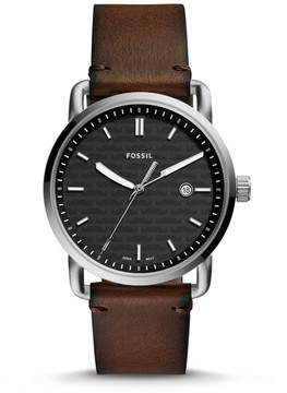 Fossil Limited Edition x Movember Three-Hand Date Brown Leather Watch
