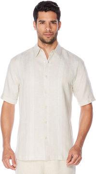 Cubavera Big & Tall Short Sleeve Stripe Panel Shirt