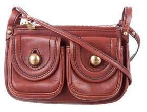 Marc Jacobs Leather Crossbody Bag - BROWN - STYLE