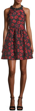 Kate Spade New York Sleeveless T-Back Poppy Jacquard Dress