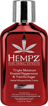 Hempz Travel Size Frosted Peppermint & Vanilla Sugar Herbal Whipped Body Creme