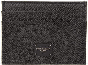Dolce & Gabbana Black Leopard Card Holder
