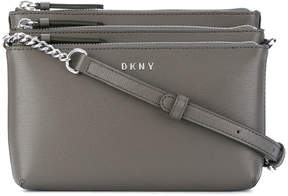 Donna Karan triple pocket crossbody bag
