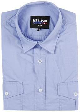 Blauer Shirt Shirt Half Sleeve Cotton With Pockets
