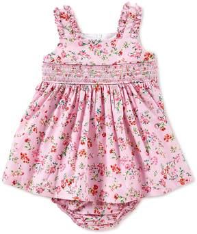 Bonnie Jean Bonnie Baby Baby Girls Newborn-24 Months Floral-Print Smocked Dress
