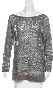 D-Exterior D. Exterior Knit Metallic Sweater