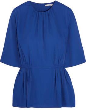 Emilia Wickstead Gerty Twill Peplum Top - Royal blue