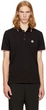 Moncler Black Maglia Polo