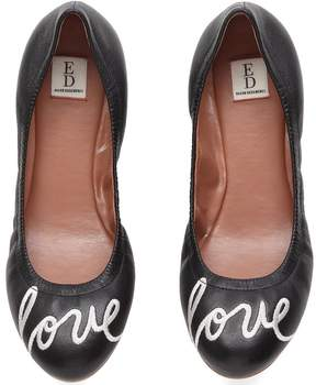 ED Ellen Degeneres Langston Embroidered Leather Flats