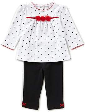 Little Me Baby Girls 3-12 Months Pindotted Tunic & Solid Leggings Set